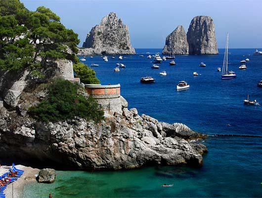 Yachtcharter Rom – Neapel: Capri zieht viele Maler und Schriftsteller an